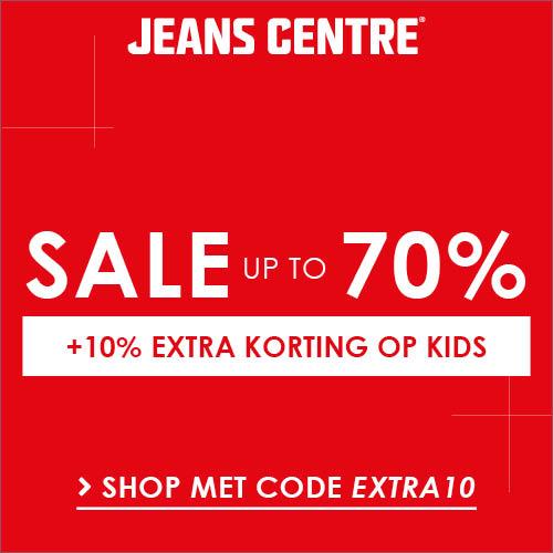 Kinderspijkergoed bij Jeans Centre sale met kortingen tot 70%