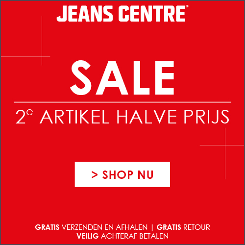 Jeans Centre Sale 2e artikel halve prijs