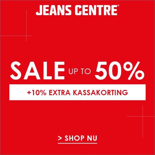 Sale bij Jeans Centre kortingen tot 50% + 10% extra kassakorting