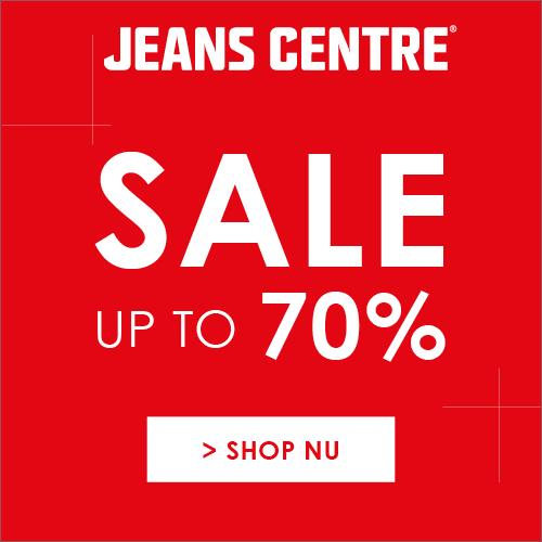Kortingen tot 70% tijdens de sale bij Jeans Centre