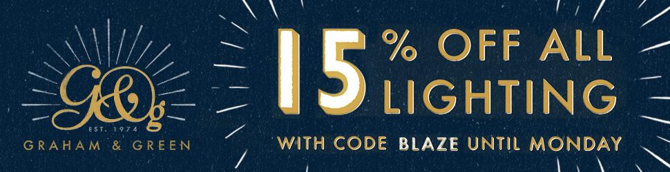 15% OFF all lighting